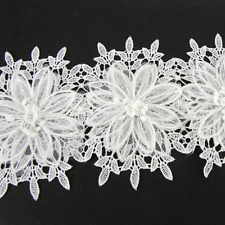½ M White Exquisite LACE BRIDAL WEDDING TRIM TRIMMINGS 120mm WIDTH LC99