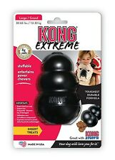 EXTREME TOUGH LARGE BLACK KONG DOG TOY BOREDOM BREAKER