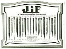 """Publicité Ancienne """" Porte Mine JIF 1925 """" ( P. 25 )"""