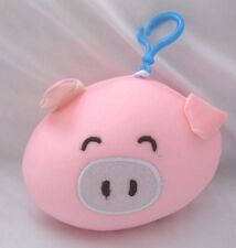 Snow Foam Micro Beads Pig Face Cushion/Pillow Backpack/Purse Clip-Brand New!