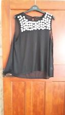 ATMOSPHERE see thrugh ladies top,size14,black, read description