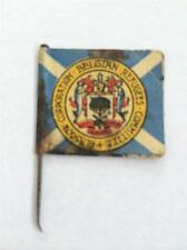 RARE WW1 PAPER FLAG DAY BADGE - GLASGOW CORPORATION BELGIAN REFUGEE FLAG DAY #27
