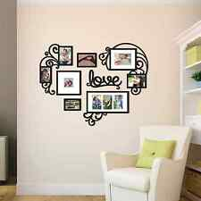 Heart Love Collage Photo Picture Frame Set Black Wall Art Decoration Home Decor