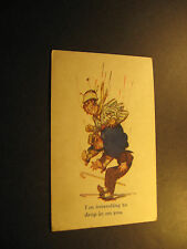 """""""I'm intending to drop in on you"""", used postcard, undivided back"""