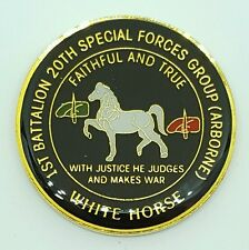 20th Special Forces Group Airborne 1st Battalion Green Beret White Horse Coin!!!