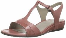 ECCO women TOUCH 25 S SANDALS Shoes Ankle T Strap Leather PINK EU 41,USA 10-10.5