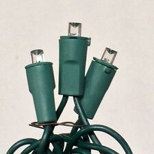 Bundle 6 Sets - LED CLEAR - Green Wire Steady Christmas Holiday Lights - 50 bulb