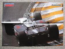Centerfold Poster West McLaren Mercedes MP4/13 1998 #8 Mika Hakkinen (FIN)