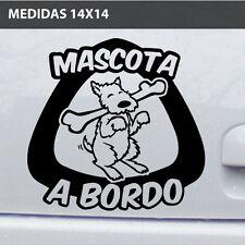 Mascota  a bordo Perro  mascota Vinilo adhesivo Pegatina Sticker Moto Coche