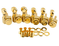 Kluson Locking Tuners Fender 2 pin 6 inline Gold KLF-3805GL NEW