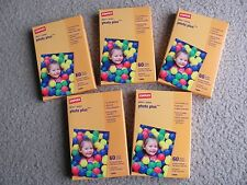 "New 5 Packs Staples Photo Plus Paper 4"" x 6"" Gloss 60/Pack, Total: 300 shee"