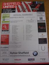 26/02/2013 Colour Teamsheet: Sheffield United v Leyton Orient  . Item in very go