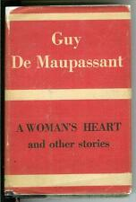A WOMAN'S HEART by De Maupassant, rare US Shakespeare House hardcover in jacket