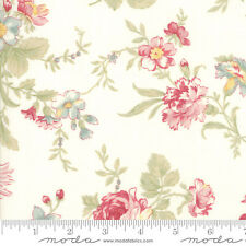 POETRY Print Large Floral Porcelain Quilt Fabric 3 Sisters by 1/2 Yard #44130-11