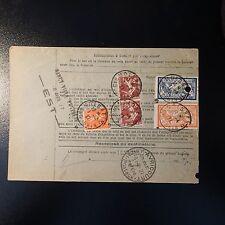 BULLETIN D'EXPEDITION COLIS POSTAUX FISCAL MOISHEIM BAS RHIN 1927 MERSON 123/145