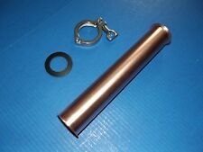 """1 ft 2"""" Copper Extension Beer Keg Moonshine Still Head with tri clamp and gasket"""