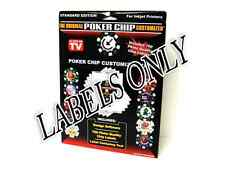 LABELS ONLY for The Original Poker Chip Customizer Software NEW 700 labels