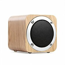LEFON Wood Bluetooth 4.0 Wireless Speaker with FM Radio 1800mAh Rechargable AUX