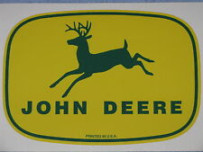 "JOHN DEERE 7.75"" 1950's PRINTED IN USA DECAL STICKER 4 LEGGED FARM TRACTOR GATOR"
