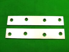 """Mending plate strap 152 x 26mm (6"""") straight fixing bracket, pack 2 zinc plated"""