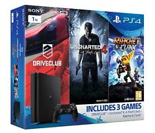 PS4 Slim 1TB Console + Uncharted 4 + Driveclub + Ratchet & Clank