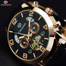 Hot Forsining Gold Auto Date Luxury Automatic Tourbillon Mechanical Mens watches
