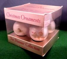 Hallmark 1975 LITTLE MIRACLES Ruth Morehead Set of 4 Christmas Glass Ornaments