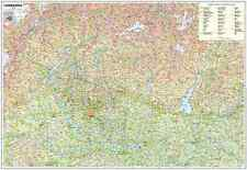 Carta GEOGRAFICA MURALE REGIONE LOMBARDIA 97 x 70 cm BELLETTI cartina