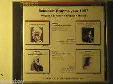 SCHUBERT BRAHMS WAGNER MOZART by Yehudi Menuhin CD 1997 great master performance
