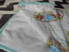 Baby Cot Blanket Beatrix Potter - Peter Rabbit Soft Fleece Backing 100cm x 120cm