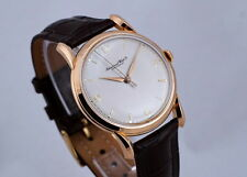 VINTAGE IWC 18K ROSE-GOLD RARE BIG-SIZE WATCH W/ BEAUTIFUL BOMBE LUGS FROM 1950s