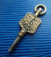 Advertising Pocket Watch Key -  H. Key of 38 Market Place Middleton , Manchester