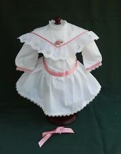 RETIRED American Girl SAMANTHA WHITE LACE TEA PARTY DRESS + HAIR BOW REPRO