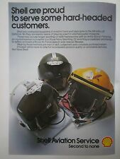 10/1977 PUB SHELL AVIATION HELMET CASQUE PILOT HELICOPTER RAF NAVY ARMY AD