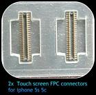 2 X Digitiser Touch Connector FPC for iPhone 5S 5C Socket Plug 32 pin