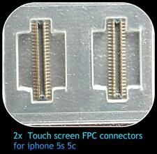 2 x digitiser Touch CONNETTORE FPC per iPhone 5S 5C Socket Plug 32 PIN
