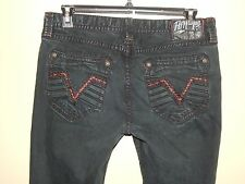 Affliction Gage Black Wash Men's Jeans The Buckle sz 34 Heavy Stitch EUC