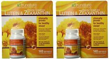 2 X 140 Softgels trunature Vision Complex Lutein 25mg & Zeaxanthin 5mg,