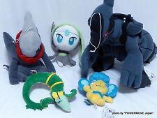 Used Pokemon Plush Doll Set of 5 Zekrom Darkrai Meloetta Panpour Serperior Rare