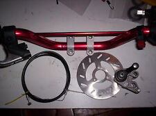 New Mini Pocket Dirt Bike Atv Quad Handle Bar Assembly complete with brakes