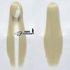 100CM Light Blonde Long Straight Basic Style Fashion Women Cosplay Hair Wig
