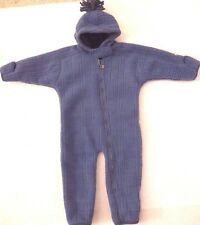 REI 18 Month BLue Baby Bunting Snuggler Snowsuit very Warm Heavy Weight