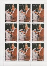 MOTHER TERESA POPE JOHN PAUL II TURKMENISTAN 1997 MNH STAMP SHEETLET