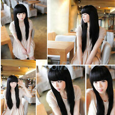 New style black Fashion Long Straight Women's Girl Full Hair Wigs Cosplay/Party
