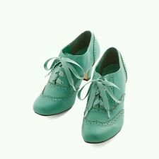 "NIB Modcloth ""Dance Instead of Walking Heel"", Mint, Chelsea Crew, Oxfords Size 9"
