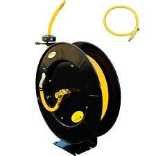 """100FT X 3/8"""" I.D Retractable Air Hose Reel Auto Rewind Automotive Compressors HD"""