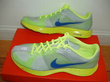 NEW Nike LunaRacer men 8.5 = women 10 racing flats racer running shoes neon/blue