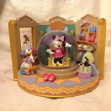 RARE Disney Minnie Mouse & Daisy MINNIE'S BOW-TIQUE Figurines SnowGlobe