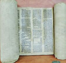 Extremely Rare Antique Complete Persian Torah Scroll On Gevil Ca 1500 Judaica