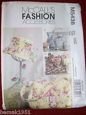 McCall's M5438 Quilted Handbag Totes Hat & Cell Phone Case Sewing Uncut Pattern